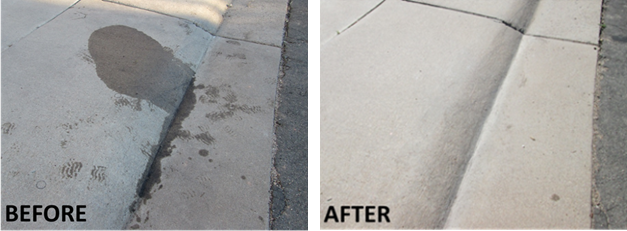 before and after clean driveway